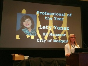 TMHRA - Professional of the Year - Lety Yanez